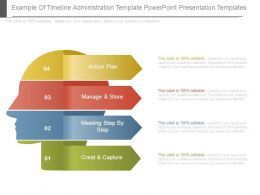 Example Of Timeline Administration Template Powerpoint Presentation Templates