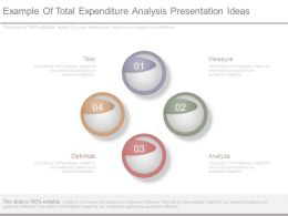Example Of Total Expenditure Analysis Presentation Ideas
