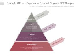 Example Of User Experience Pyramid Diagram Ppt Sample