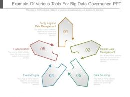 Example Of Various Tools For Big Data Governance Ppt