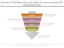 Example Of Web Based Business Sales Conversion Analysis Ppt Powerpoint Guide