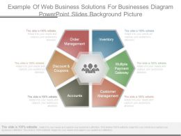 Example Of Web Business Solutions For Businesses Diagram Powerpoint Slides Background Picture