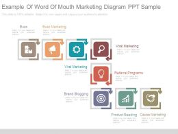 Example Of Word Of Mouth Marketing Diagram Ppt Sample