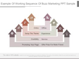 Example Of Working Sequence Of Buzz Marketing Ppt Sample