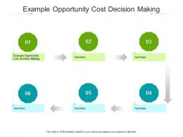 Example Opportunity Cost Decision Making Ppt Powerpoint Presentation File Files Cpb