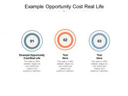 Example Opportunity Cost Real Life Ppt Powerpoint Presentation Summary Maker Cpb