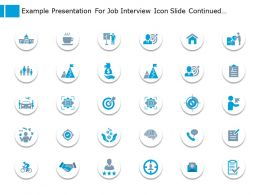 Example Presentation For Job Interview Icon Slide Continued Marketing