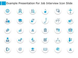 Example Presentation For Job Interview Icon Slide Planning