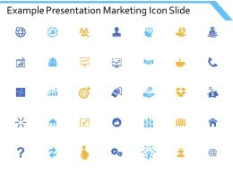 Example Presentation Marketing Icon Slide Currency Ppt Powerpoint Presentation Icon