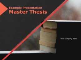 Example Presentation Master Thesis Powerpoint Presentation Slides