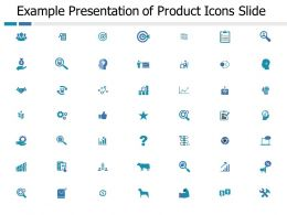 Example Presentation Of Product Icons Slide Strategy Ppt Powerpoint Presentation File Visuals
