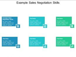 Example Sales Negotiation Skills Ppt Powerpoint Presentation File Visual Aids Cpb
