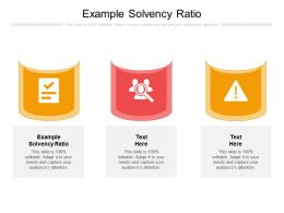 Example Solvency Ratio Ppt Powerpoint Presentation Styles Designs Download Cpb