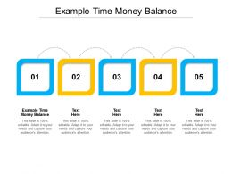 Example Time Money Balance Ppt Powerpoint Presentation Ideas Clipart Images Cpb