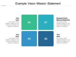 Example Vision Mission Statement Ppt Powerpoint Presentation Portfolio Cpb