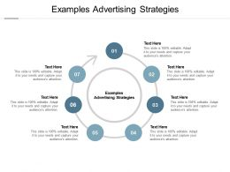 Examples Advertising Strategies Ppt Powerpoint Presentation Ideas Cpb