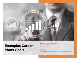 Examples Career Plans Goals Ppt Powerpoint Presentation Pictures Layout Cpb