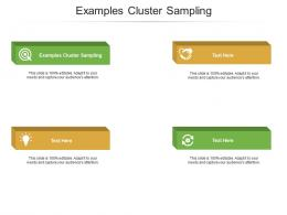 Examples Cluster Sampling Ppt Powerpoint Presentation File Formats Cpb