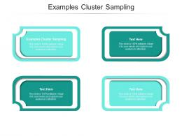Examples Cluster Sampling Ppt Powerpoint Presentation Slides Grid Cpb
