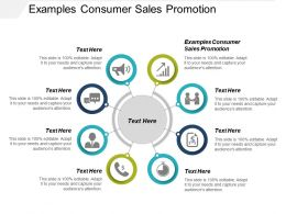 Examples Consumer Sales Promotion Ppt Powerpoint Presentation Visual Aids Diagrams Cpb