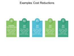 Examples Cost Reductions Ppt Powerpoint Presentation File Templates Cpb