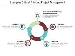 Examples Critical Thinking Project Management Ppt Powerpoint Presentation Inspiration Model Cpb