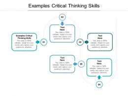 Examples Critical Thinking Skills Ppt Powerpoint Presentation Pictures Visual Aids Cpb