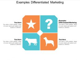 Examples Differentiated Marketing Ppt Powerpoint Presentation Styles Graphics Cpb