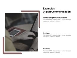 Examples Digital Communication Ppt Powerpoint Presentation Model File Formats Cpb