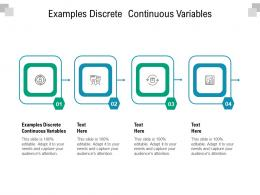 Examples Discrete Continuous Variables Ppt Powerpoint Presentation Model Cpb