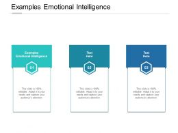 Examples Emotional Intelligence Ppt Powerpoint Presentation Gallery Cpb