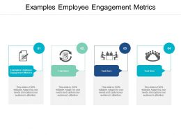Examples Employee Engagement Metrics Ppt Powerpoint Presentation Gallery Format Cpb