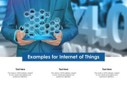 Examples For Internet Of Things