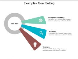 Examples Goal Setting Ppt Powerpoint Presentation Infographic Template Objects Cpb