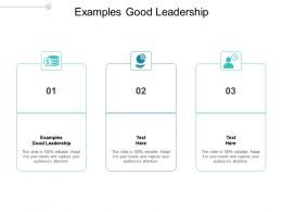 Examples Good Leadership Ppt Powerpoint Presentation Backgrounds Cpb