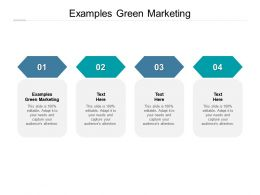 Examples Green Marketing Ppt Powerpoint Presentation Summary Diagrams Cpb