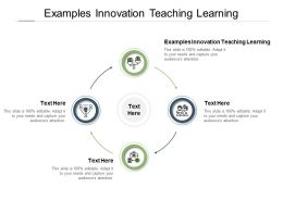 Examples Innovation Teaching Learning Ppt Powerpoint Presentation Show Cpb