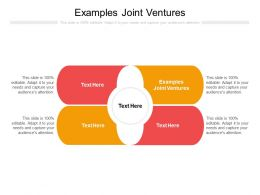 Examples Joint Ventures Ppt Powerpoint Presentation Outline Summary Cpb