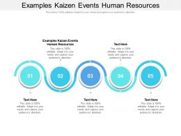 Examples Kaizen Events Human Resources Ppt Powerpoint Presentation File Pictures Cpb
