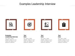 Examples Leadership Interview Ppt Powerpoint Presentation Layouts Cpb