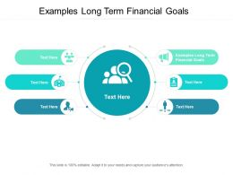 Examples Long Term Financial Goals Ppt Powerpoint Presentation Styles Elements Cpb
