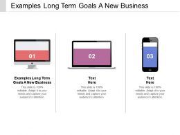 Examples Long Term Goals A New Business Ppt Powerpoint Gallery Cpb