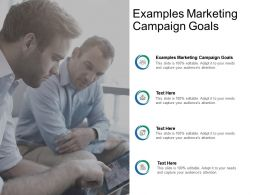 Examples Marketing Campaign Goals Ppt Powerpoint Presentation Pictures Cpb