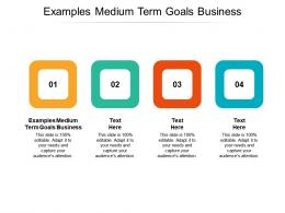 Examples Medium Term Goals Business Ppt Powerpoint Presentation Outline Introduction Cpb
