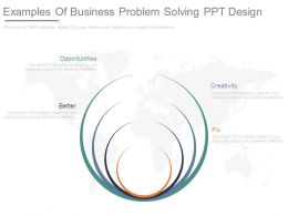 Examples Of Business Problem Solving Ppt Design
