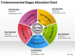 Examples Of Business Processes 5 Interconnected Stages Allocation Chart Powerpoint Templates