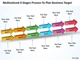 Examples Of Business Processes 6 Stages To Plan Target Powerpoint Templates