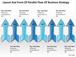 Examples Of Business Processes And Form Parallel Flow Strategy Powerpoint Templates