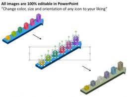 Examples Of Business Processes Colorful Bars On Arrow Timeline Diagram Powerpoint Templates