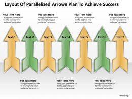 Examples Of Business Processes Parallelized Arrows Plan To Achieve Success Powerpoint Templates